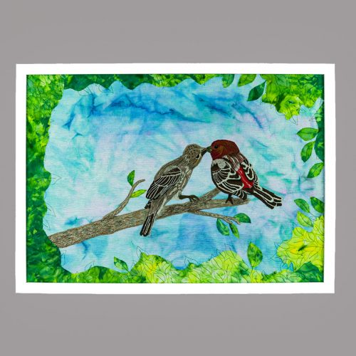 Mr and Mrs Finch - 6x6 150 full image